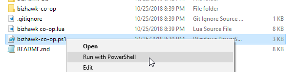 Run with PowerShell